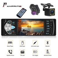 AMPrime car radio 1 din TFT touch screen Support high capacity TF card Bluetooth USB Reverse Camera 4.1'' Steering Wheel control