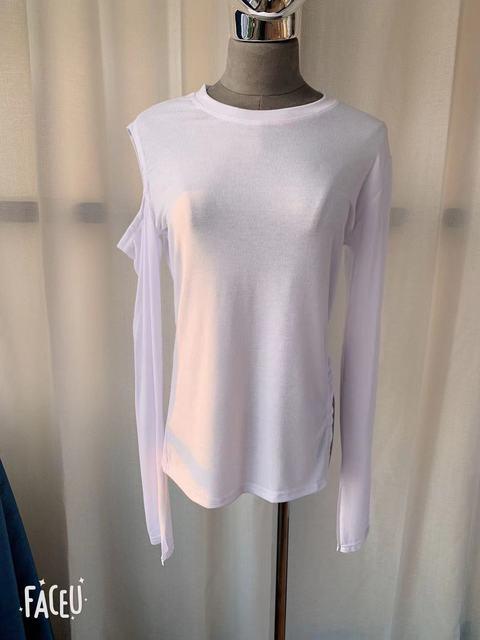 NEW Spring Top Sexy T Shirt Women Elasticity T-Shirt Korean Style tee Woman Clothes Slim Tshirt Female skinny long Sleeve Tops 6