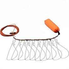 Heavy Duty Fish Stringer Clip Large Stainless Steel Lock Cable Fishing Y51D