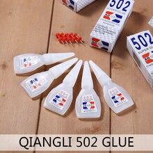 1/5 pçs 502 cola super cola cianoacrilato adesivo forte ligação rápida ferramenta de reparo para couro borracha plástico madeira metal