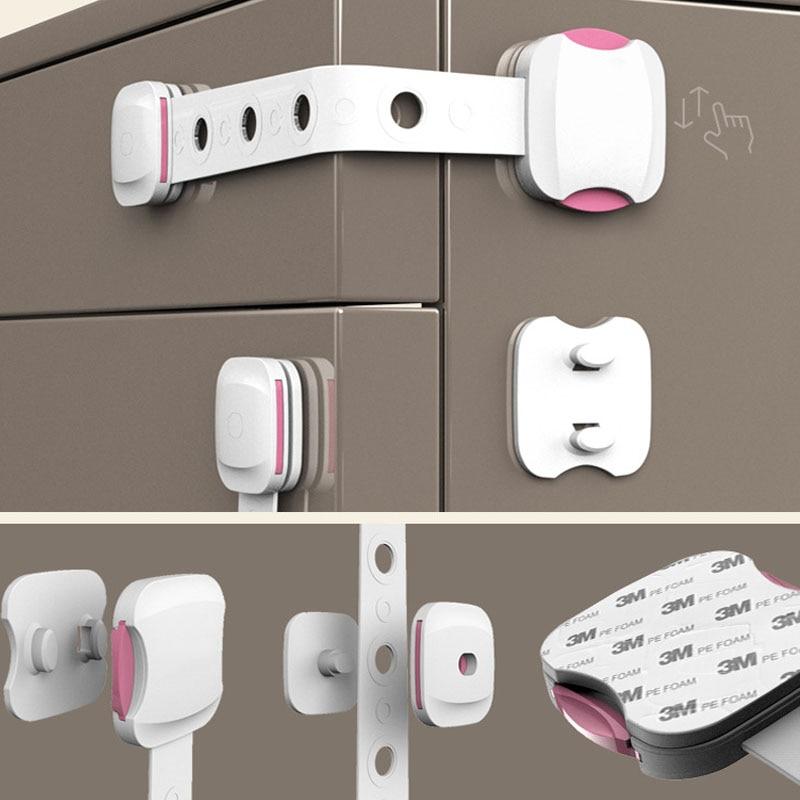 Creative Baby Safety Lock  Drawer Door Toilet Cabinet Cupboard Safety Locks Baby Protection Child Newborns AXP077