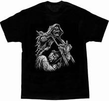Camiseta legal do passeio do ceifador da morte do design. Verão algodão manga curta o pescoço t camisa masculina novo S-3XL