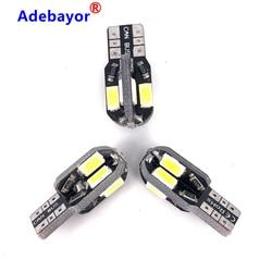 400pcs High Quality Canbus Error Free T10 T15 W5W 194 SMD Led Bulb 5630 5730 t10 8 SMD 8smd 400 Lumens White 12V Adebayor