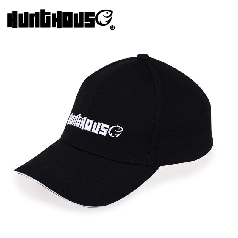 Hunthouse Fishing Outdoor Black Cap Sports Caps Mens Cotton Hat  Baseball Cap Sun Hat Hunting Fishing Blank Desert Hat