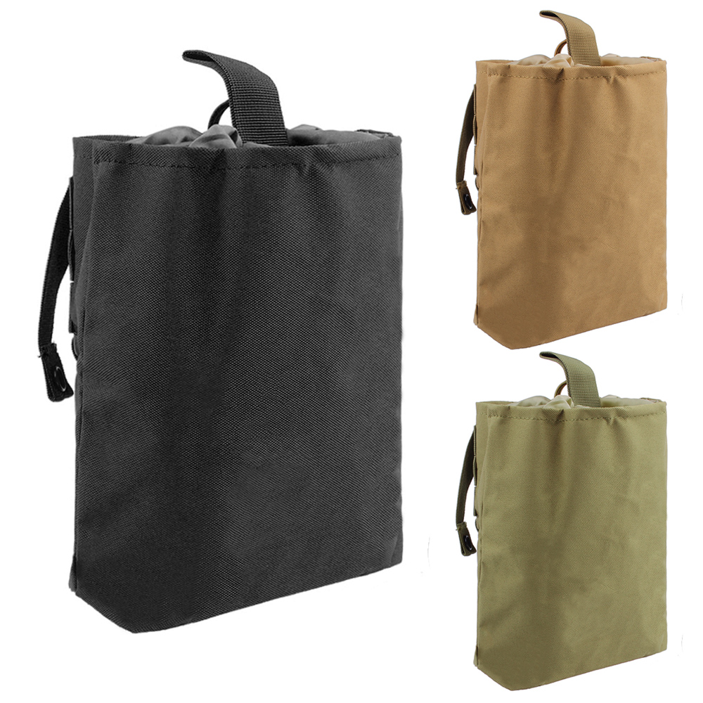 Tactical Utility Magazine Mag Drop Dump Pouch Molle Belt Hunting Airsoft Military Gun Ammo Foldable Bag