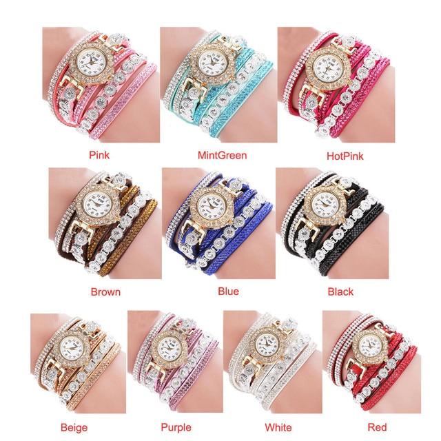 Quartz Watches Women Watches Luxury Fashion Casual Analog Quartz Rhinestone Bracelet Watch Gift Free Ship Z5 2