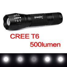 T90 Waterproof LED Flashlight 500LM T6 LED Light 5 Modes Aluminum Alloy Zoomable Torch Lamp Fit for Camping / Hiking 20000 lumens led flashlight 8x xml t6 5 modes super brightness torch light lamp fit for outdoor camping hiking