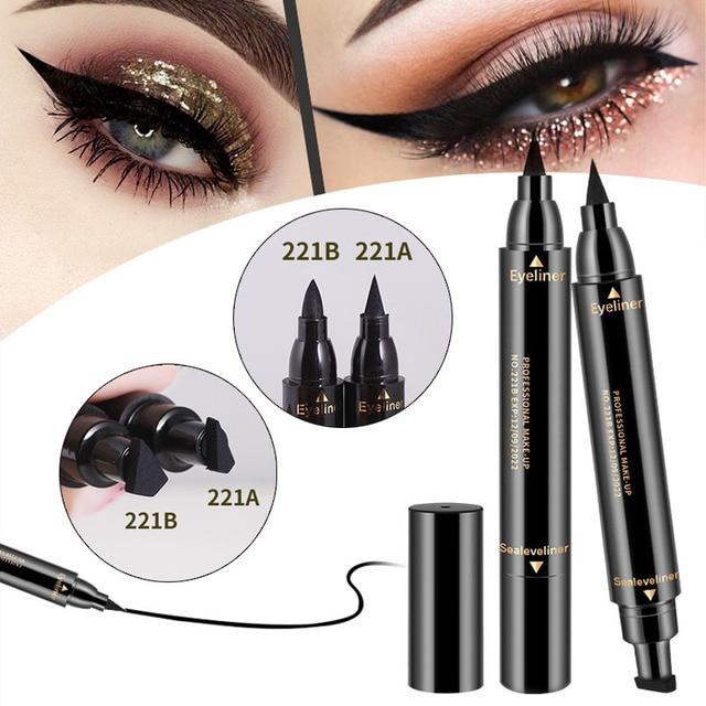 1 Pcs Double-ended Eyeliner 2-in-1 Waterproof Black Eyeliner Pencil Make Up Beauty Cosmetics Long-lasting Eye Liner makeup tools 5