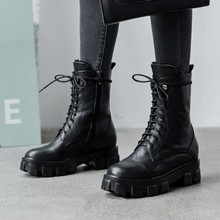 Platform-Shoes Sneakers Ankle-Boots Winter Genuine-Leather Women Wool Non-Slip Keep-Warm