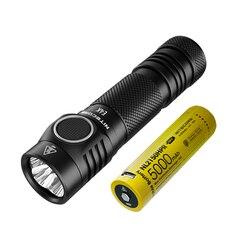 NITECORE E4K CREE XP-L2 V6 LED 4400 lúmenes, linterna LED con batería recargable 21700 5000mah