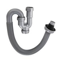 Умывальник кухонный слив трубы Интер-Настольная раковина u-образный дренажная труба s-образная кисть для телескопическая дезодорирующий шланг для мытья кухонный слив доступа