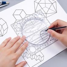 Multi-function Art Design Drawing Ruler Stereo Geometry Ellipse Template Ruler School Accessories Bow Shape Plotter Ruler
