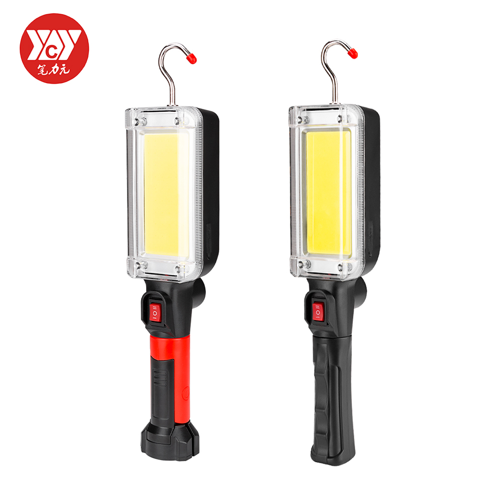 Portable COB LED Work Light Spotlight With Hook Magnetic USB Rechargeable Repair Torch Movable Working Light Flashlight