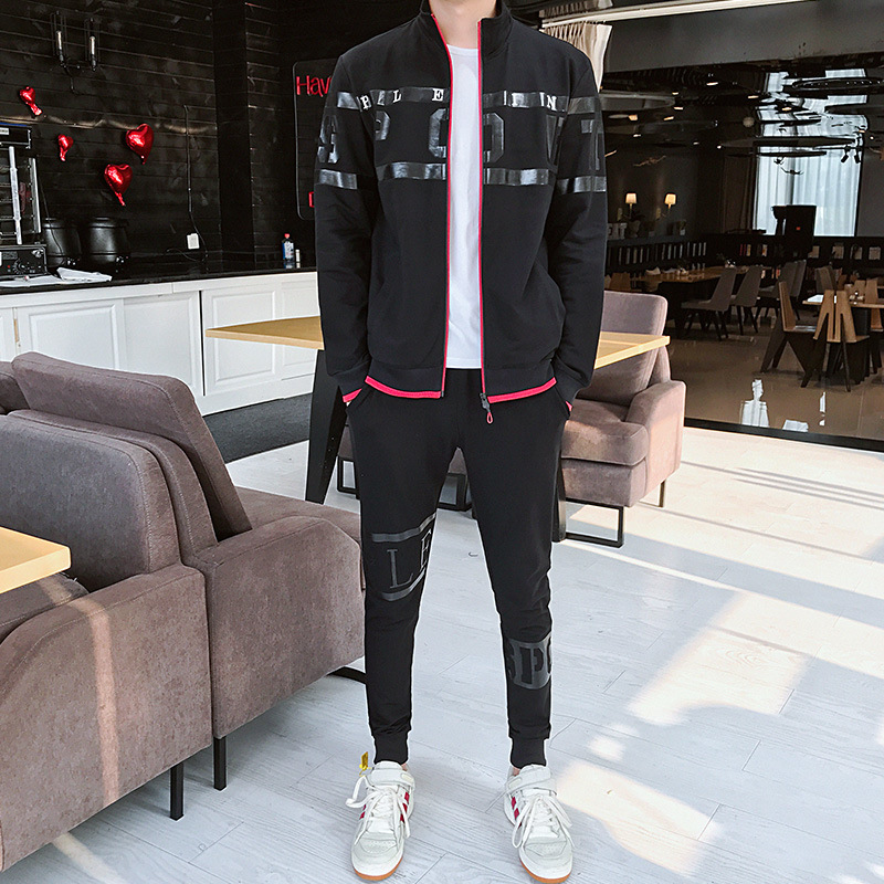 Autumn MEN'S Hoodie Korean-style Handsome Hip Hop INS Sports Leisure Suit Spring And Autumn Douyin Celebrity Style On Clothes