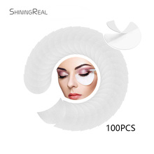 100 Pieces/ Pack Professional Eyeshadow Shield for Eye Makeup Under Eye Patches Eyes Lips Makeup Application Tool