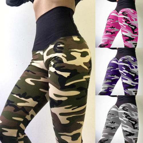 Womens Pants Camo Cargo Trousers Casual Military Army Combat Camouflage
