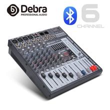 Хорошее качество, чистый звук! 6 микшер каналов цифровой аудио dj контроллер с 48В Мощность usb-слот для Запись этап