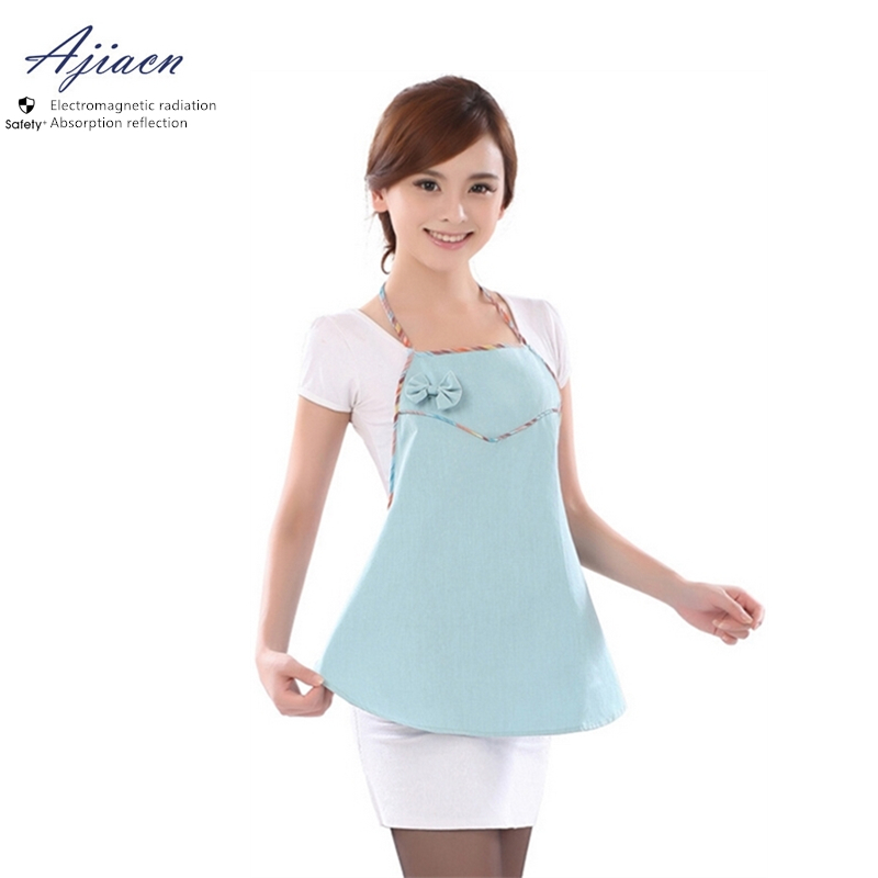 Ajiacn Genuine Electromagnetic Radiation Protective Metal Fiber Apron EMF Shielding Anti-radiation Pregnant Mothers Clothing