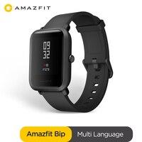 Original amazfit bip relógio inteligente bluetooth gps esporte monitor de freqüência cardíaca ip68 notificação push mifit app alarme vibração