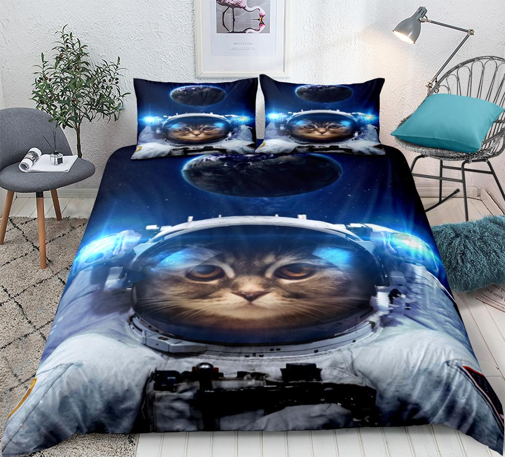 Animal Duvet Cover Set Cats King Size Double Single Super Reversible Bedding Kid