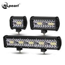 NLpearl 4-20 cal Combo listwa świetlna LED Off Road 12V 24V LED do baru pracy oświetlenie do jeepa do ciężarówek SUV 4x4 ciągnik łódź ATV światło przeciwmgielne samochodu