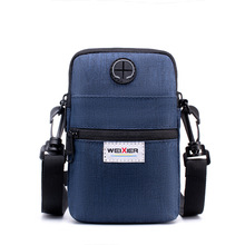 New mens summer multi - purpose mobile bag outdoor sports waist color with one shoulder leisure bag.