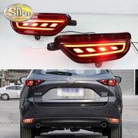 2PCS Rear Fog Lamp For Mazda CX 5 CX5 2017 2018 2019 Car LED Rear Bumper Brake Light Dynamic Turn Signal Light Reflector