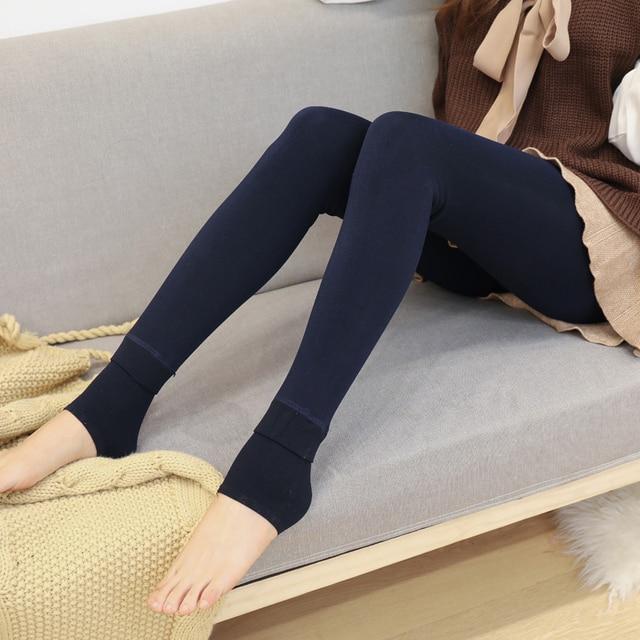 ATHVOTAR S-XL 8 Colors Winter Leggings Women's Warm Leggings High Waist Thick Velvet Legging Solid All-match Leggings Women 5
