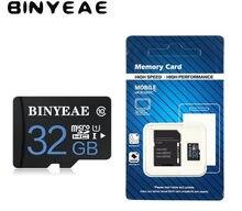 100% original binyeae micro sd class10 tf cartão 4gb 8gb 16gb 32gb 64gb cartão de memória cartão micro sd para samrtphone e mesa pc quente
