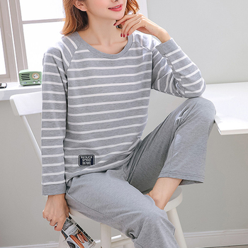 pajama sets frutto rosso for boys frb72142 sleepwear kids home suit children clothes Cotton Pajama Sets Women Long Sleeves Striped Soft Casual Home Clothes Sleeping Suit Sleepwear Pijama Mujer 2020 2XL 3XL