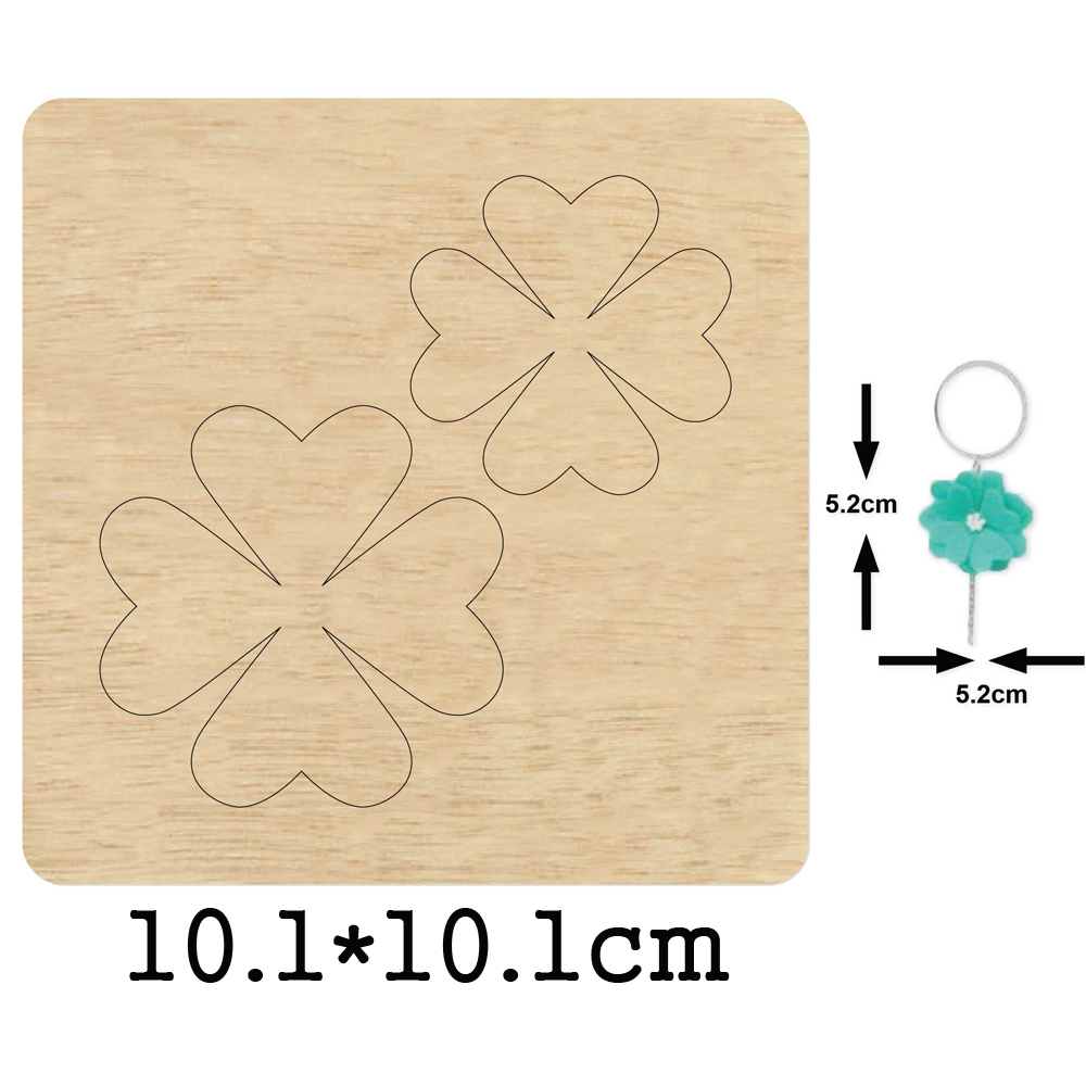Four Leaf Clover Dangler Earring 2020 New Cutting Mold Wood Dies For Leather Blade Rule Cutter For DIY Leather Cloth Paper Craft