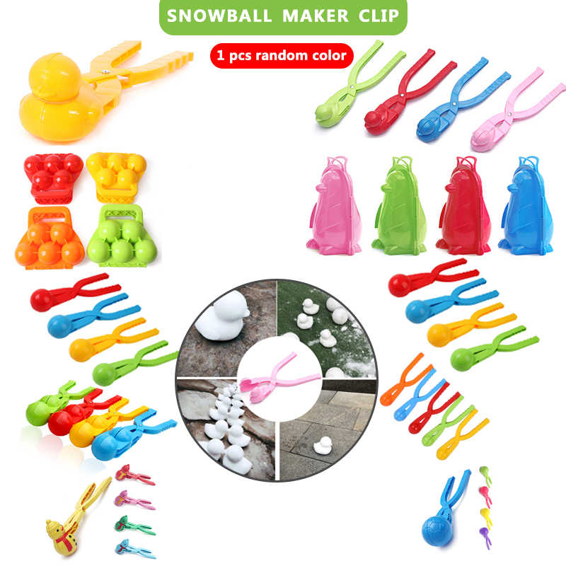 FUNNY SNOWMAN CLIP CLAMP SNOWBALL MAKER KIDS OUTDOOR SPORTS SNOW SAND MOLD TOYS
