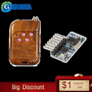 Image 1 - גארמה 433mhz RF ממסר מקלט מודול אלחוטי 4 CH פלט עם למידה כפתור 433 Mhz RF שלט רחוק משדר Diy