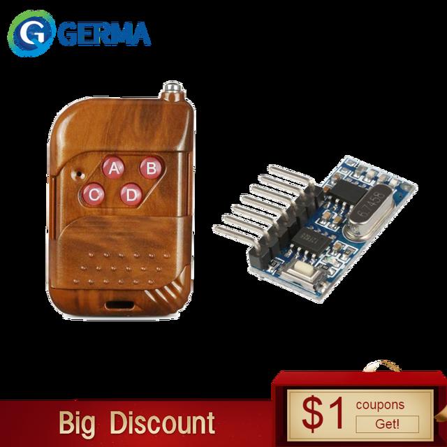 גארמה 433mhz RF ממסר מקלט מודול אלחוטי 4 CH פלט עם למידה כפתור 433 Mhz RF שלט רחוק משדר Diy