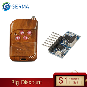 Image 1 - GERMA 433mhz RF Relay Receiver Module Wireless 4 CH Output With Learning Button and 433 Mhz RF Remote Controls Transmitter Diy
