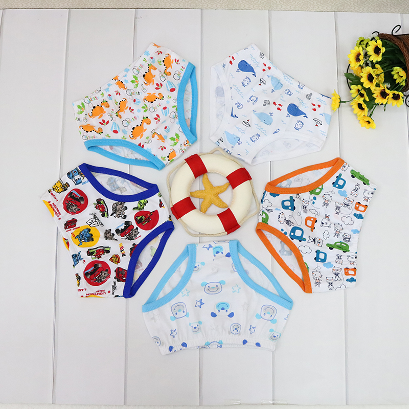 Little Q 100% Cotton Boys And Girls Panties For 1-5 Baby Clothes Spring Autumn Suits 5 Pcs/lot Low Price Good Quality Underwear