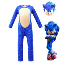 Mavi/siyah Sonic The Hedgehog kostüm çocuk oyun karakteri Cosplay cadılar bayramı kostüm çocuk maskesi/Headdress
