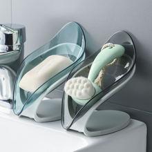 Коробка для мыла в форме листа дренаж держатель ванной комнаты