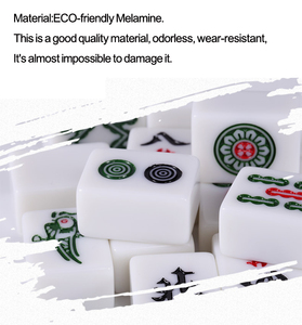 Image 3 - Cor jade branco 40mm ou 42mm padrão chinês mahjong 144 peças telhas jogo conjunto completo na mesa