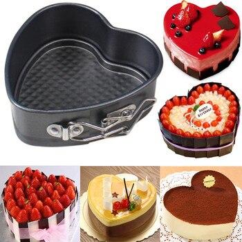 Жестяная антипригарная форма для торта в форме сердца, пружинная форма, свободная основа, противень для выпечки, идеальные инструменты для выпечки, кухонные принадлежности гаджет # R5