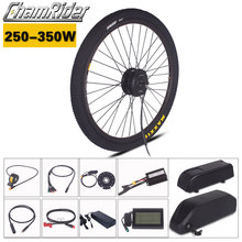 Chamrider 250W 350W ebike Kit 36V 48V 52V Electric bike conversion kit Polly Battery 20.4AH 17AH MXUS Motor LCD3 display