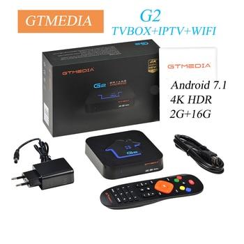 Android 7.1Original GTMEDIA G2 TV Box+IPTV server 4K HDR  Ultra HD 2G 16G WIFI Google Cast Netflix IPTV Set top Box Media Player