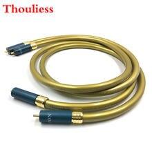 Thouliess пара hifi Тип 1 позолоченный rca разъем аудио кабель