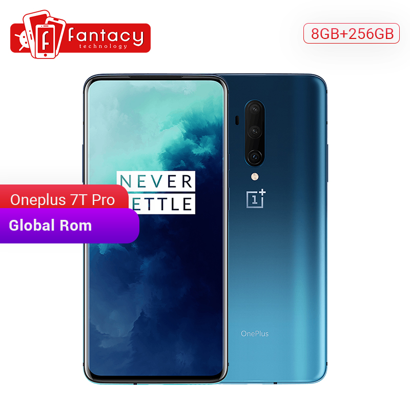Global ROM OnePlus 7T Pro 8GB 256GB Snapdragon 855 Plus SmartPhone 6.67'' Fluid AMOLED 90Hz Screen 48MP Camera 4085mA UFS 3.0