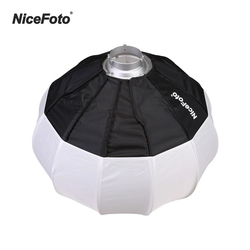 NiceFoto 50cm/20inch Foldable Lantern Style Softbox Ball Shape Soft Box With Bowens Mount Quick-Install Portable for Flash Light