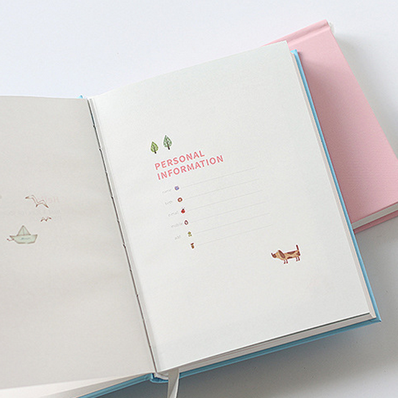 365 Planner Agenda Notebook Colorful Inner Page Illustration Yearly Daily Plan Journal Record Life Stationery Gifts 3