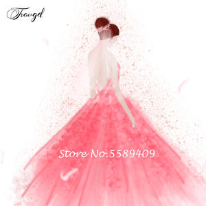 Traugel Wedding-Dress Customized Fee-Link Special-Request Any Handmade