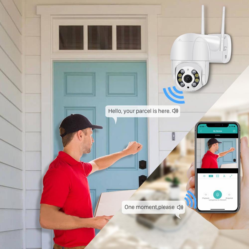 BESDER 5MP PTZ IP Camera Wifi Outdoor AI Human Detection Audio 1080P Wireless Security CCTV P2P RTSP 4X Digital Zoom Wifi Camera 2