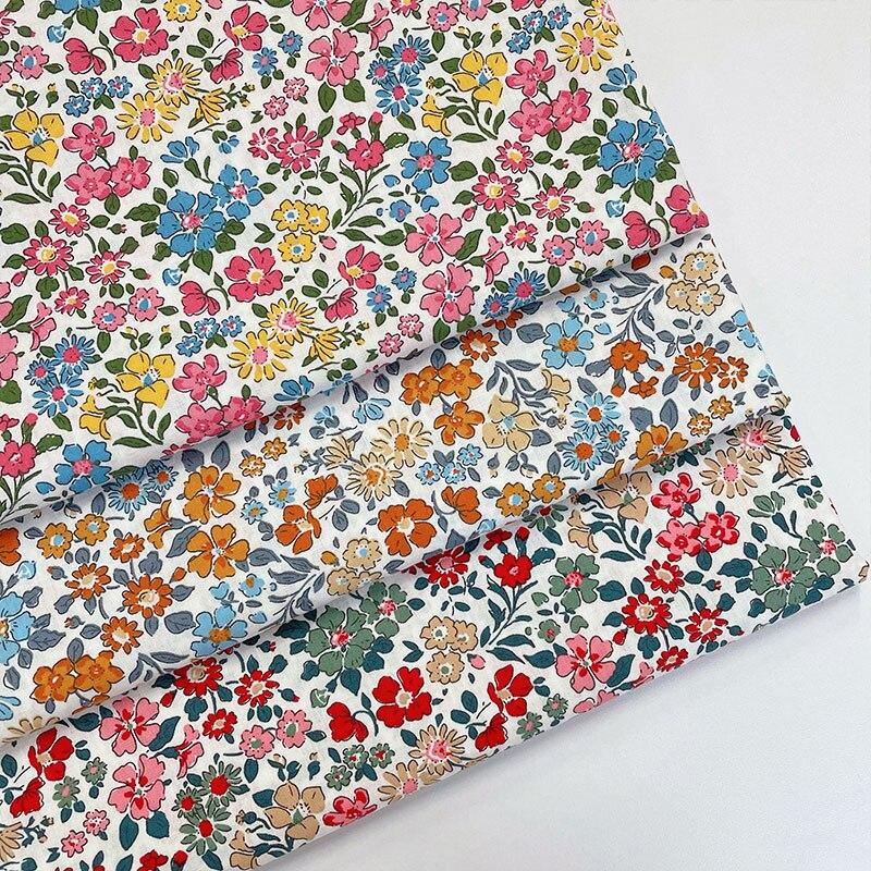 145x50cm pequeno tecido de algodão popelina floral que faz o vestido de verão roupa das crianças handwork pano