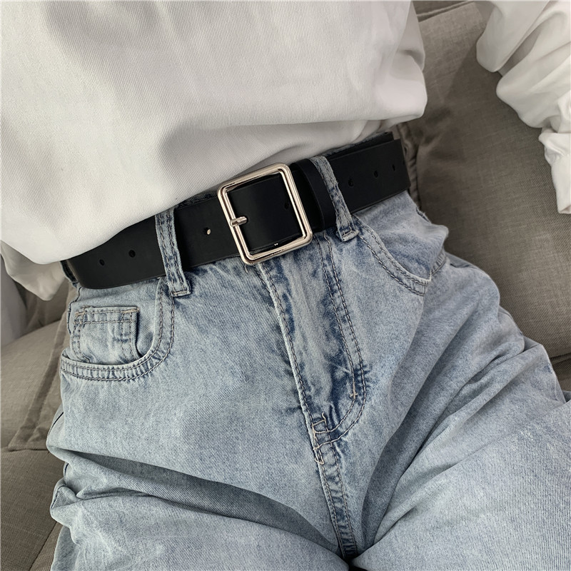 2020 cinto de couro do plutônio para as mulheres praça fivela pino fivela jeans cinto preto chique marca luxo senhoras vintage cinta cintura feminina